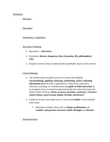 humanities-final-exam-notes