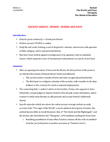 claa06h3-full-notes-midterm-final-on-hesiod-the-work-and-days-theogony-the-shield-of-herakles-translated-by-richmond-lattimore-