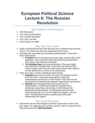 lecture-6-the-russian-revolution-docx