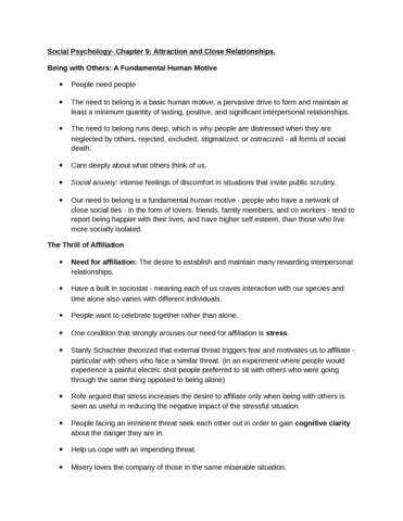 social-psychology-ch-9-atracttiveness-docx