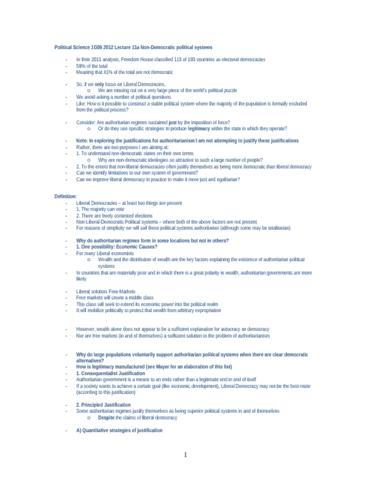political-science-1g06-2012-lecture-11a-overhead-non-democratic-states-doc