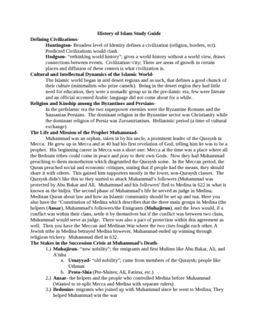 history-of-islam-study-guide-docx