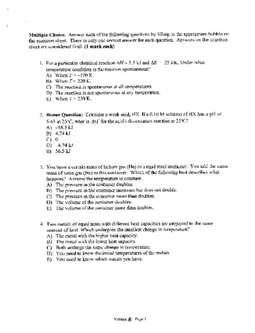 -exam-tutorial-ryerson-chy113-midterm-2007-questions