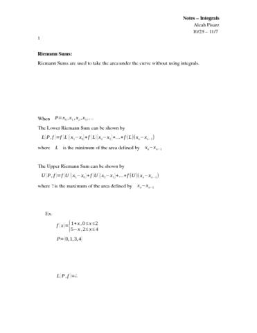 notes-integrals