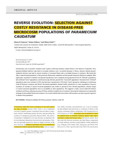 reverse-evolution-selection-against-costly-resistance-in-disease-free-microcosm-populations-of-paramecium-caudatum-annotated-article-pdf