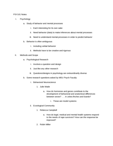 psy101h-lecture-notes-4-0-gpa-student