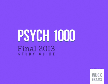 wuck-psych-1000-final-exam-study-guide