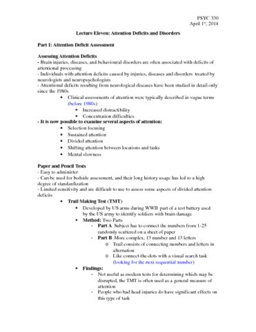 psyc-330-lecture-11-attention-and-brain-disorders-april-1st-2014-docx