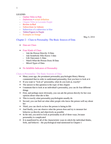 personality-psychology-chapter-2-textbook-notes-docx