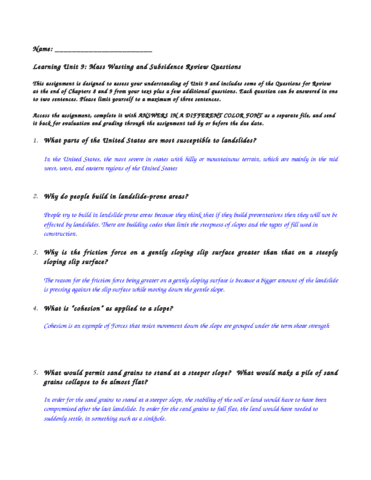 mass-wasting-and-subsidence-review-questions-2-doc