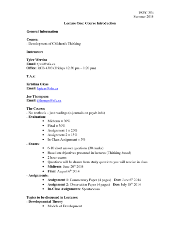 psyc-354-lecture-1-notes-may-9th-2014-docx