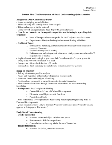 psyc-354-lecture-5-june-6th-2014-docx