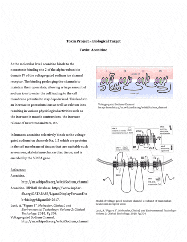 toxin-project-aconitine-biological-target-pdf