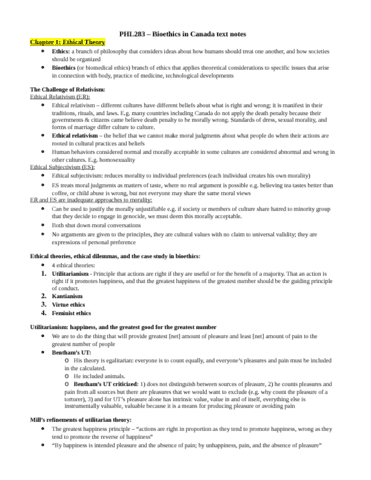phl283-bioethics-in-canada-text-notes-docx