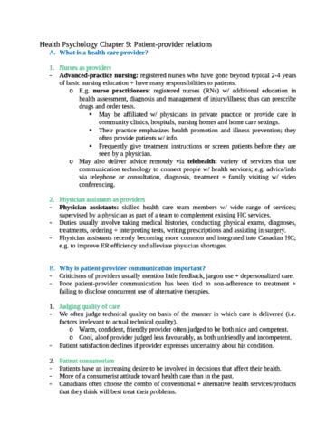 health-psychology-chapter-9