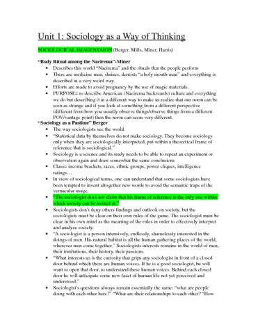 sociology midterm 100 Study 78 soc 100 midterm flashcards from nicole j on studyblue.