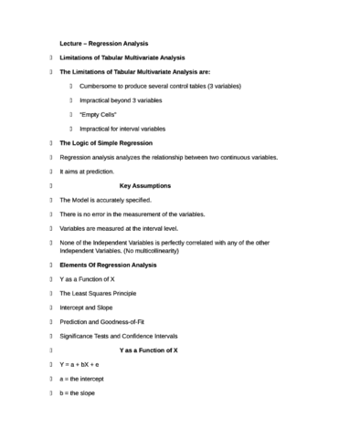 comm-3001-regression-analysis-full-notes-