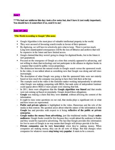 SOC 3116 - Final Exam Notes