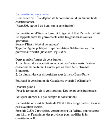 resume du cours full notes oneclass