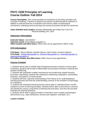 studentoutline-psyc-2330-principles-of-learning-docx
