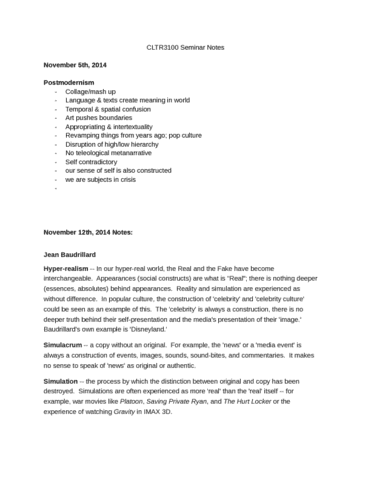 cltr3100-seminar-notes