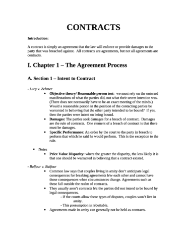 Contract Outline Oneclass