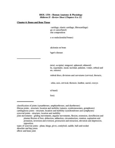 Bio Exam 1 Review - OneClass