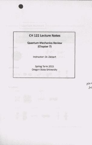 ch-122-lecture-1-chemistry-122-quantum-mechanics