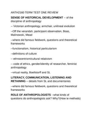 anth2160-midterm-anth2160-term-test-one-review-docx