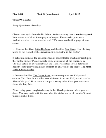 film exam notes film midterm film study notes midterm  film 2401 final test 4