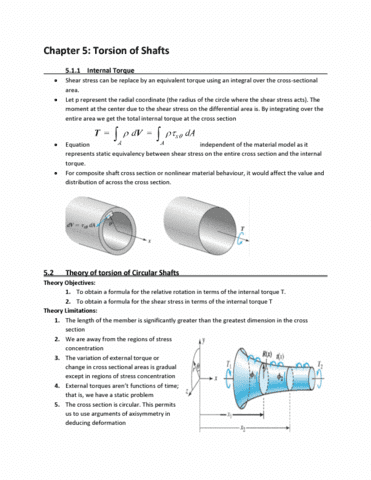 PHYS 270 Chapter Notes - Chapter 5: Shear Stress, Stress Concentration,  Rotational Symmetry