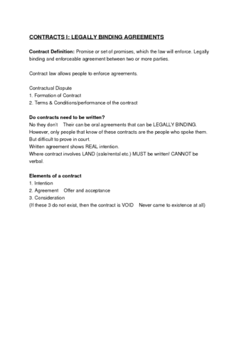 Final Exam Contracts Notes Intergrated Business Perspectives