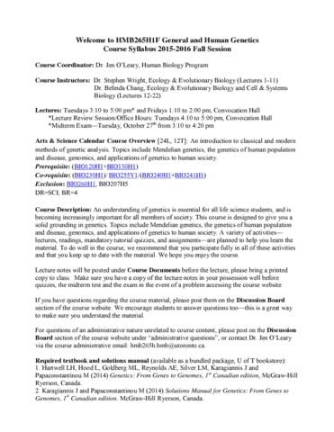 hmb265h1-lecture-1-hmb265h1f-course-syllabus-fall-2015