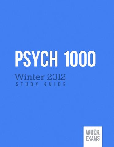 Mid term exam psychology