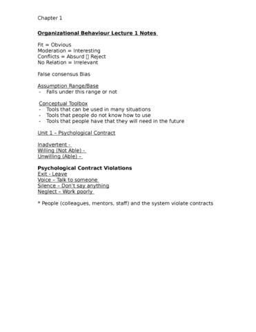 busi-2101-lecture-1-organizational-behaviour-lecture-1-notes