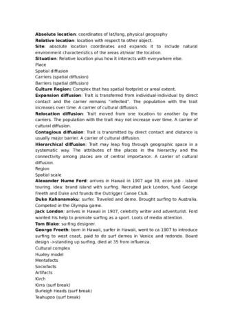 GEOG 20 Lecture Notes - Lecture 1: Trans-Cultural Diffusion, Duke  Kahanamoku, Tavarua