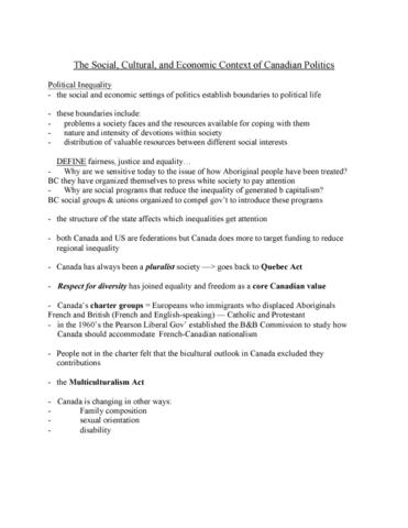 pog110-lecture-3-social-cultural-and-economic-context-of-canadian-politics