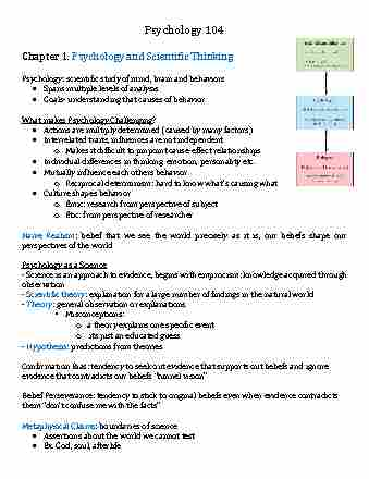 psych-104-lecture-1-psych-104-chapter-1-psychology-and-scientific-thinking