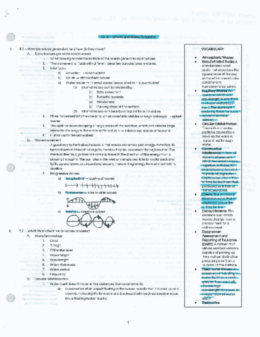 Ocng 251 textbook notes ocng 251 chapter 9 tides oneclass ocng 251 chapter 8 waves and water dynamics sciox Gallery