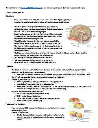 anatomy-and-cell-biology-3319-lecture-7-diencephalon