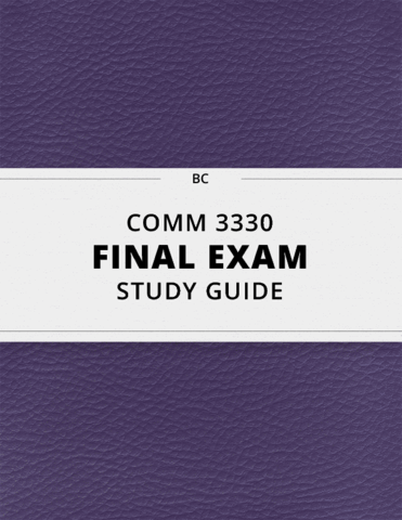 comm study guide