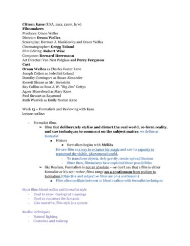 Film Studies 1022 Lecture Notes Fall 2016 Lecture 13 Un Chien