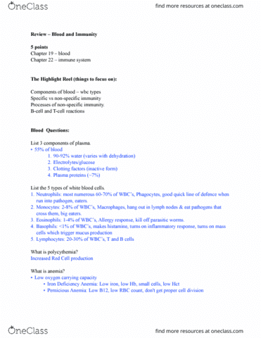 knes-260-midterm-blood-and-immunity-study-guide