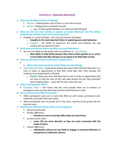 psychology-2720a-b-final-chapter-10-prosocial-behaviour-final-exam-review