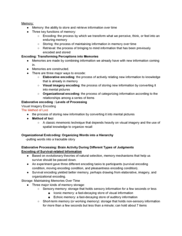 Psy 0010 Lecture Notes Fall 2016 Lecture 5 False Memory