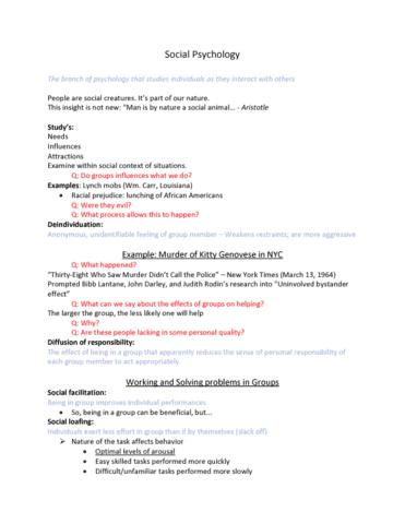 psyc-101-lecture-16-social-psychology-chap-16