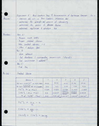 chem-126-lecture-5-experiment-5-beer-lambert-law-and-determination-of-equilibrium-constant