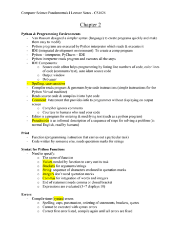Computer Science 1026A/B Chapter Notes - Chapter 2: Virtual Machine, Data  Type, Source Code Editor