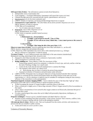 psyc-2740-lecture-2-personality-lecture-3-chapter-2