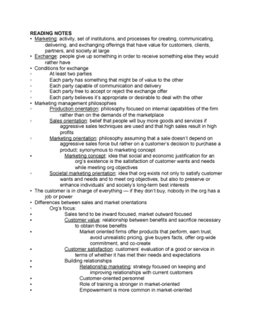 mktg-3000-lecture-1-chapter-1-reading-and-lecture-notes
